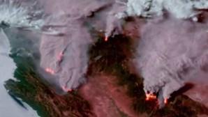 Fogos na Califórnia são visíveis a partir do espaço