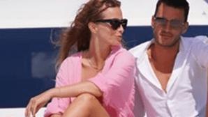 Cristina Ferreira e Ruben Rua divertem-se em alto-mar