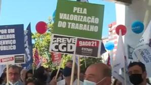 Trabalhadores da CGD em greve para reivindicar negociação da tabela salarial