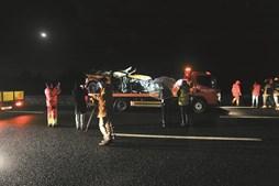 Jipe de Sara Carreira capotou na autoestrada e ficou quase totalmente destruído
