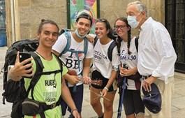 Presidente da República tirou 'selfies' com outros peregrinos