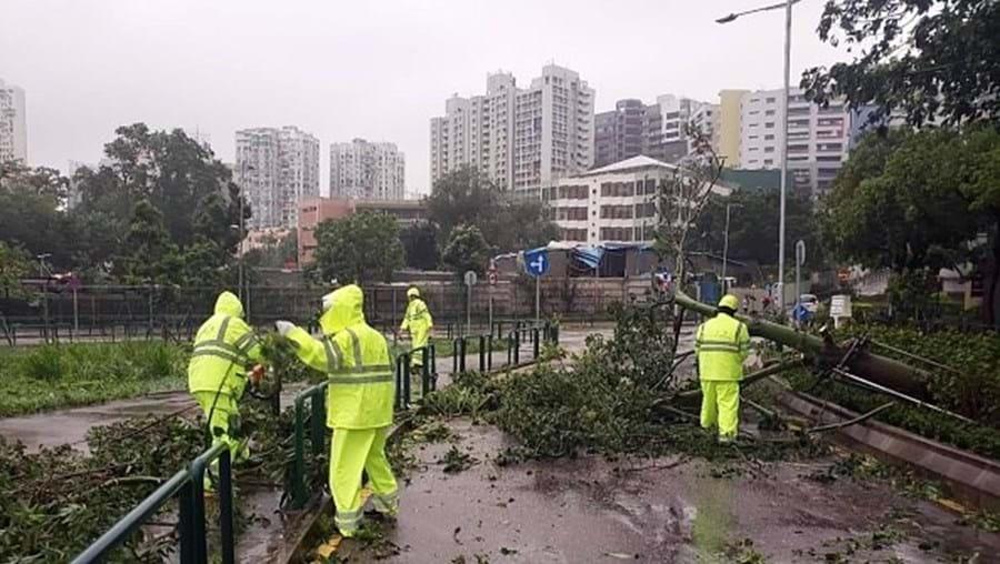 Tempestade em Macau - Imagem de arquivo