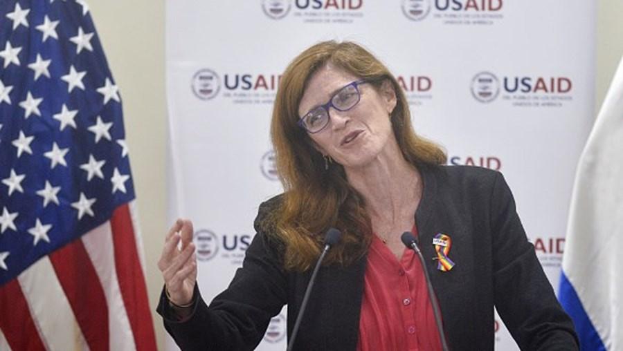 Diretora da Agência Americana para o Desenvolvimento Internacional, Samantha Power,