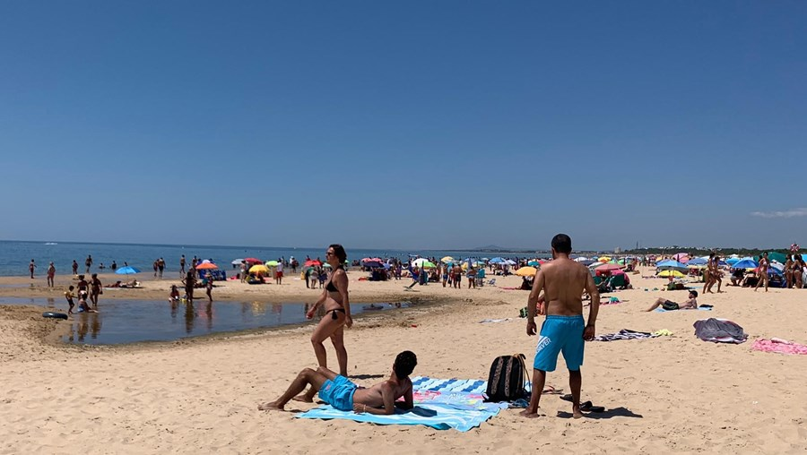 Praia de Monte Gordo, no Algarve