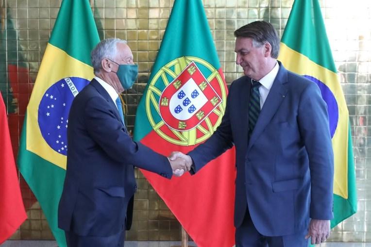 Marcelo encontrou-se com o presidente brasileiro Jair Bolsonaro