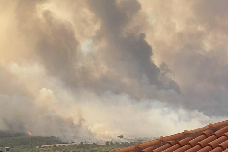 Incêndios na Grécia durante vaga de calor