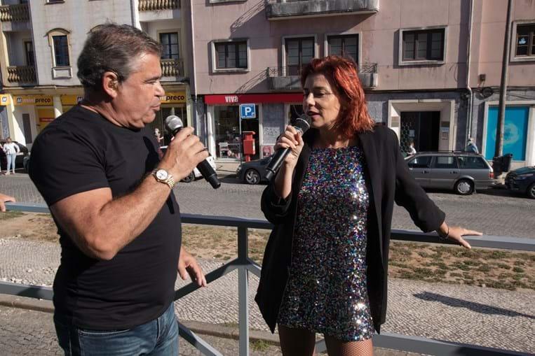Toy e Mónica Sintra cantaram e dançaram em Aveiro