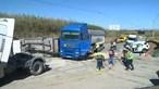 Cinco feridos em colisão entre dois camiões e um carro na EN247 em Peniche