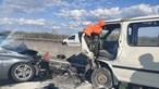 Vídeo mostra carrinha em contramão em violenta colisão com carro no IC2 em Sacavém