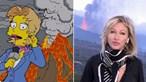 """""""Os Simpsons voltaram a previr"""": Internautas comparam erupção em La Palma com episódio da famosa série"""