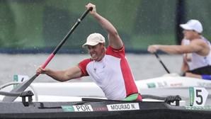 Norberto Mourão na final de canoagem, boccia coletivo nas 'meias'