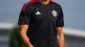 O primeiro treino de Ronaldo no Manchester United