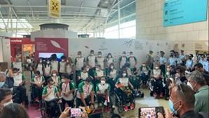 'Festa' junta dezenas de pessoas no aeroporto de Lisboa para receber atletas paralímpicos