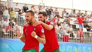 Portugal dá boa resposta no futebol de praia frente à Ucrânia