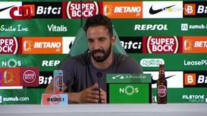 Rúben Amorim abre hipotese de Sarabia vir a ser titular no jogo do Sporting contra o Ajax
