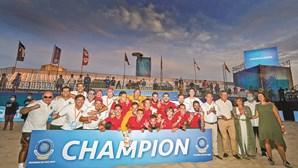 Portugal é tricampeão na Liga Europeia de futebol de praia