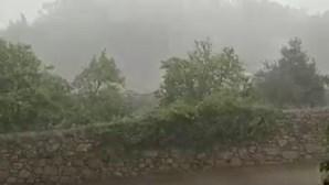 Chuva intensa em Braga