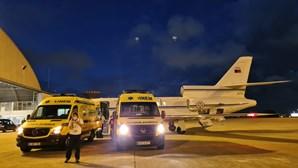 Força Aérea transporta bebé e criança de urgência