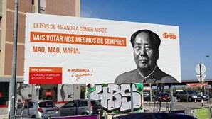 """""""45 anos a comer arroz"""": PSD do Seixal alvo de processo por cartaz com Mao Tse Tung"""