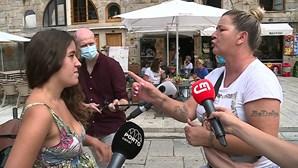 Malabarista agredida por donos de restaurante na Ribeira do Porto fica inconsciente
