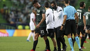 Gonçalo Inácio, do Sporting, tem uma entorse no pé direito