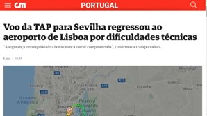 Voo da TAP para Sevilha regressou ao aeroporto de Lisboa por dificuldades técnicas
