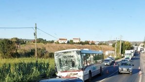 11 feridos em colisão entre camião e autocarro na EN3 no Carregado