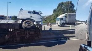 Despiste de camião condiciona trânsito na A3, na Maia