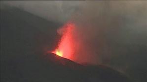 Time-lapse mostra força da erupção do vulcão Cumbre Vieja em La Palma