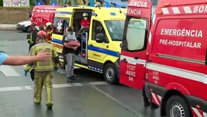 Crianças entre os 11 feridos em queda de autocarro em ribeira de Loures