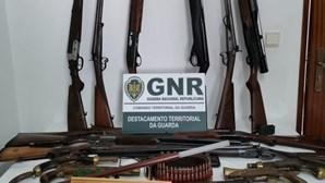 GNR apreende mais de 3 mil munições e armas na Guarda