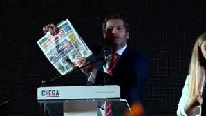 """André Ventura diz que pagamento de subvenções vitalícias """"é vergonhoso"""""""