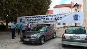 Sindicato Nacional de Polícia em protesto contra valor de subsídio de risco