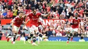 Manchester United perde com falha de pénalti de Bruno Fernandes
