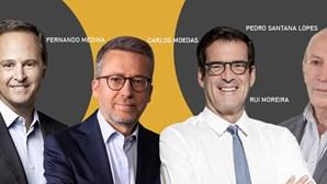 Medina e Moedas colados em Lisboa, Moreira reeleito no Porto, Santana volta à Figueira e PS perde Coimbra