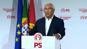 Terceira vitória em eleições consecutivas: António Costa agradece aos portugueses por renovarem a confiança no PS