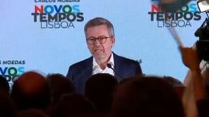 """""""Fizemos história. Fez-se história hoje em Lisboa"""": Carlos Moedas é o novo presidente da Câmara"""