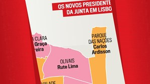 Os novos presidentes da junta em Lisboa