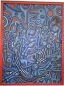 Uma das 4 pinturas de Malangatana apreendidas