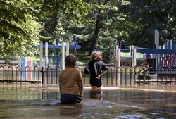 Inundações provocadas pela tempestade Ida, em Nova Iorque