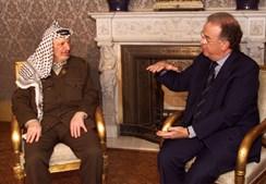 Arafat e Jorge Sampaio