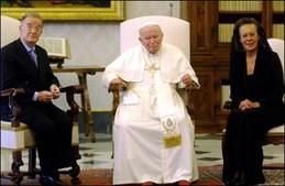 Jorge Sampaio e João Paulo II