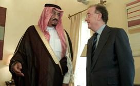 Jorge Sampaio e príncipe saudita Aziz Al-Saud