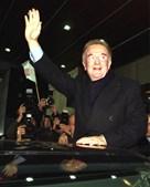 Jorge Sampaio nas celebrações após a reeleição para o Partido Socialista