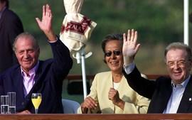 Rei espanhol Juan Carlos e Jorge Sampaio