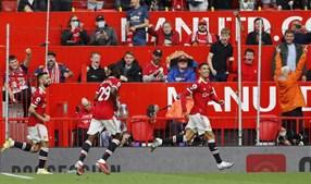 Chegar, jogar e marcar: Ronaldo inaugurou o marcador no duelo entre Manchester United e Newcastle