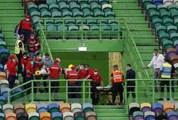 Adepto do Sporting cai do primeiro anel do Estádio de Alvalade e é assistido pelos bombeiros