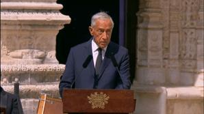 Marcelo no adeus a Jorge Sampaio: 'Amou Portugal pelas fragilidades. Nunca quis ser herói, mas foi'