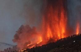 Vulcão em La Palma nas Canárias entra em erupção
