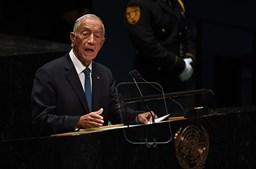 Marcelo lembrou Jorge Sampaio na Assembleia Geral da ONU